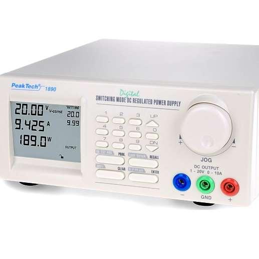 Programmierbares Netzteil P1890 1 bis 20V 10A RS232 RS485