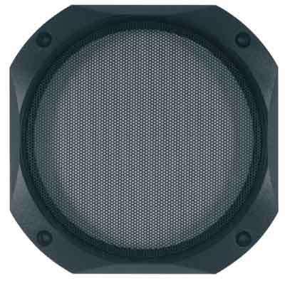 8cm Lautsprecherabdeckung mit Feingitter eckig 82x82mm Schwarz