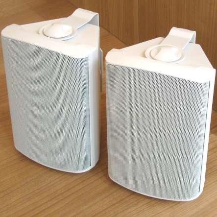Lautsprecherboxen 2x50W mit 8ohm + 100V Weiss