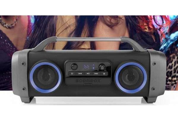 Musikanlage USB MP3 Bluetooth UKW Radio 60W mit Lithium-Akku bis 12-Stunden Spielzeit