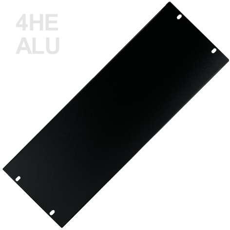 4HE Blende Rackblende 2mm ALU 483x176mm Schwarz