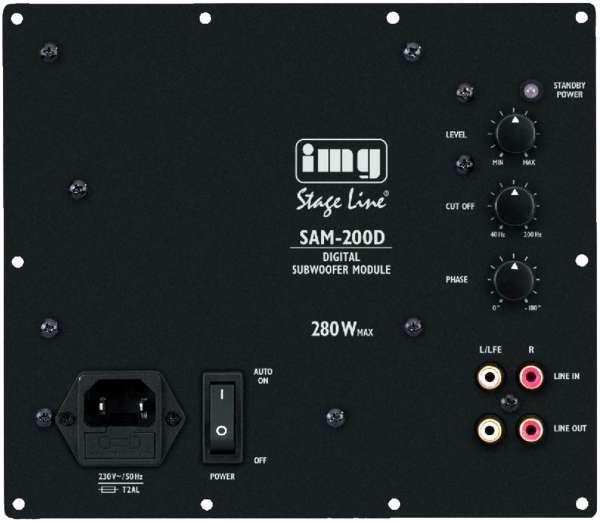 SAM-200D 280W Aktivverstärker Subwoofermodul