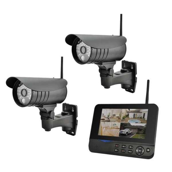 2x Funkkamera 2,4GHz mit 178mm (7zoll) Monitor Aufnahmefunktion