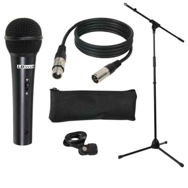 Mikrofon mit 5m Kabel Stativ und Tasche SET