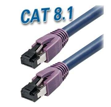 2m LAN Kabel Cat8 Patchkabel PIMF CAT-8.1 Blau