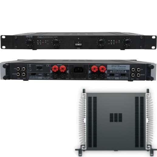 4Kanal Verstärker mit 4x160Watt CHAMP-4 Endstufe Lüfterlos Multiroom