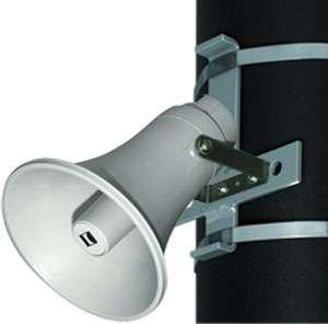 Masthalter für Druckkammerlautsprecher mit V2A Stahlbändern