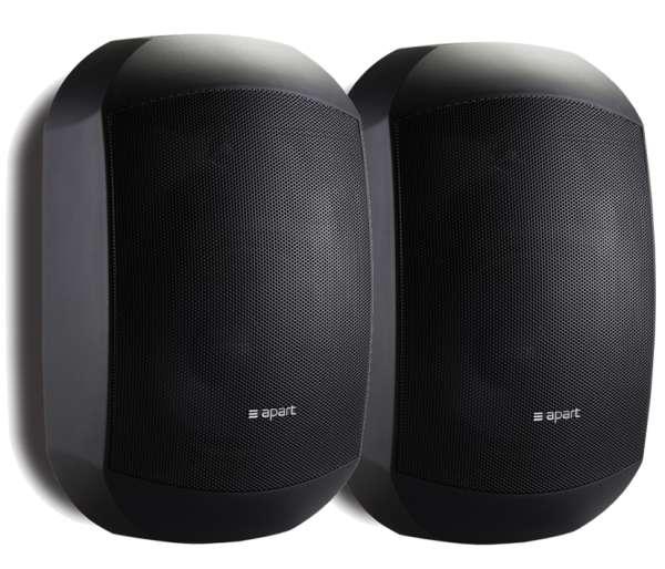 IP64 Wandlautsprecher 2x70W Mask4CT Schwarz mit 100V ELA Übertrager Outdoor