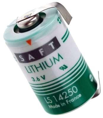 3,6V Batterie Lithium 1/2AA mit Lötfahnen