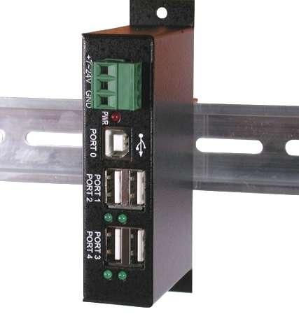 DIN Rail USB Hub