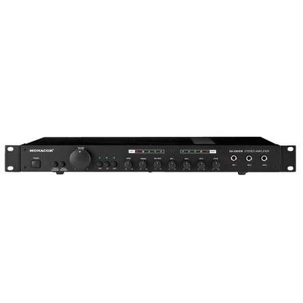 Stereo Verstärker 2x50W 19zoll PA Endstufe mit Mischpult Echo SA230/SW