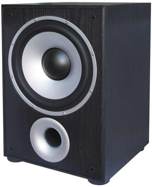 Aktiv Subwoofer 100W Black HiFi Bassbox mit Verstärker