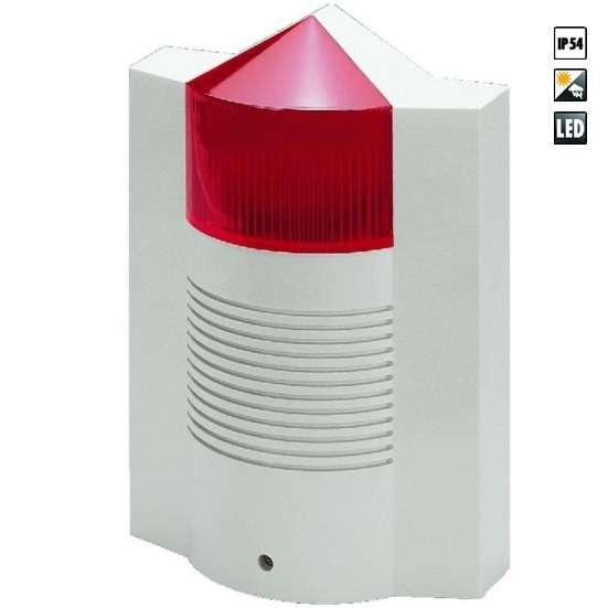Alarm 12V Sirene mit Blitzleuchte Signalgeber Alarmgeber