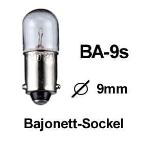 gl hlampe bajonett sockel ba9s 12v 170ma 2w bajonettlampen gl hbirnen beleuchtung. Black Bedroom Furniture Sets. Home Design Ideas