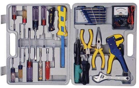 SET Lötkolben Werkzeug Messgerät Zange Schraubendreher