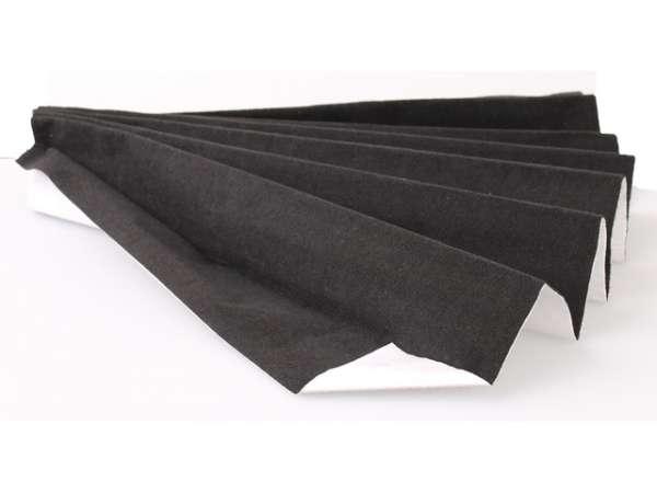 Velour Filz Bezugsstoff 140x70cm selbstklebend Schwarz für Oberflächen