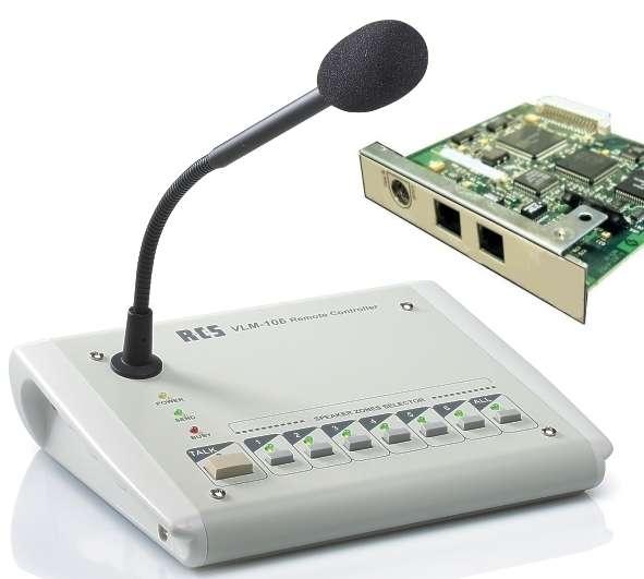 VLM106 Mikrofon Sprechstelle mit Platine für 6Zonen Zentrale