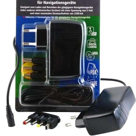 5V Netzteil bis 12W mit Mini USB und 3 Hohlsteckern für Navi Kamera Kleingeräte