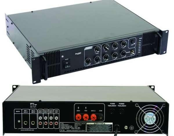 ELA Verstärker 180W 6Eingänge MPS120 100V oder 4-8ohm mit Mischpult