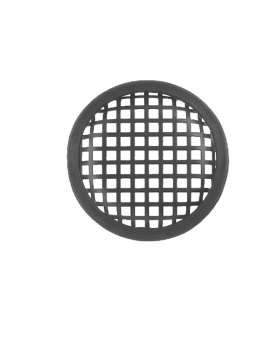 Lautsprechergitter Stollengitter Abdeckung 128mm