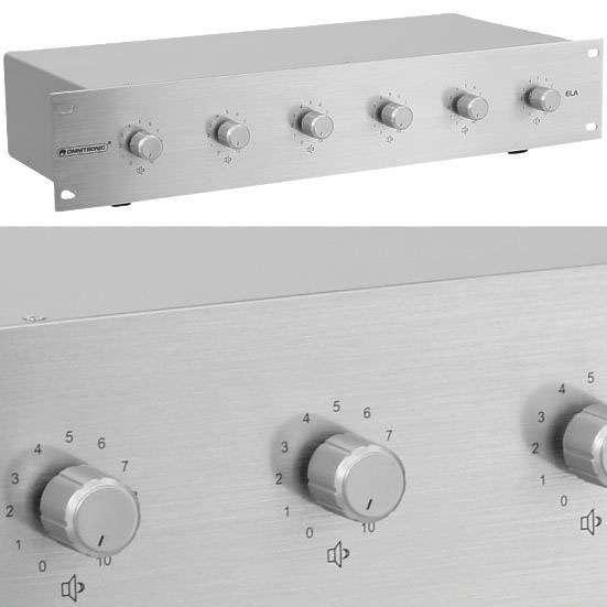ELA Lautstärke Regler 6-fach 6x20/40W --Silber--