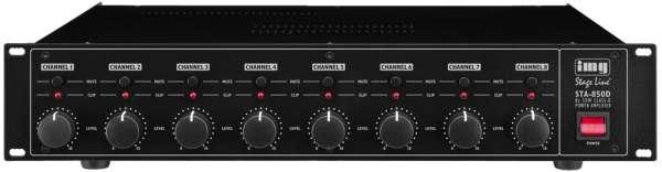 8Kanal Verstärker STA850D 8x80W digital Class-D Lüfterlos Multiroom