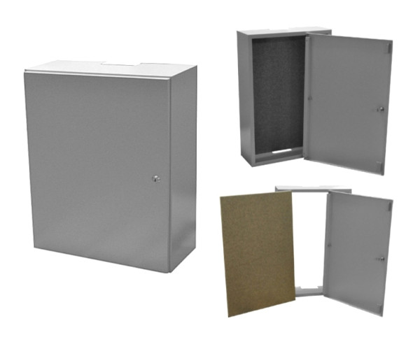 Wandgehäuse 400x300x165mm Installation Verteilerkasten Aufputz Metallschrank