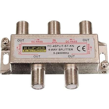 Antennen Verteiler 4-fach Verteiler SAT TV DAB DVB-T über F-Stecker