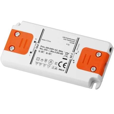 24V LED Trafo 230V bis 6Watt LED Konverter SELV Superflach