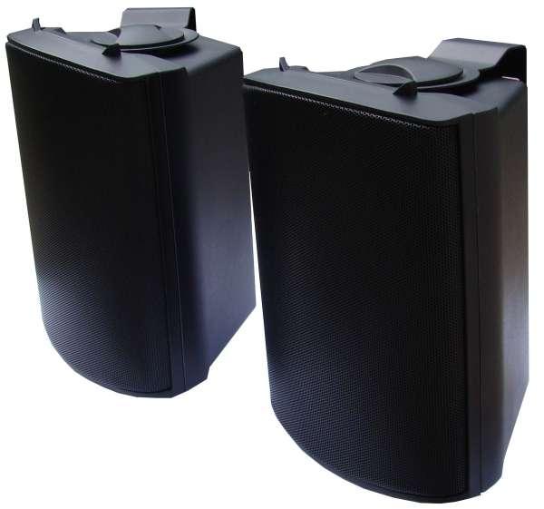 Lautsprecherboxen 2x180W 8ohm mit Bügel Schwarz Indoor Outdoor tauglich