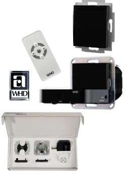 MP55 Wandstation mit Stereoverstärker incl FB LS Schwarz