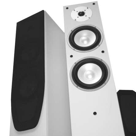 Lautsprecherboxen Set 2-teilig 240W Boxen Weiss Standboxen