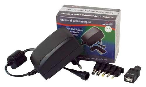 Netzteil 3V 4,5V 5V 6V 7,5V 9V 12V max 2,25A 27W mit USB Adapter