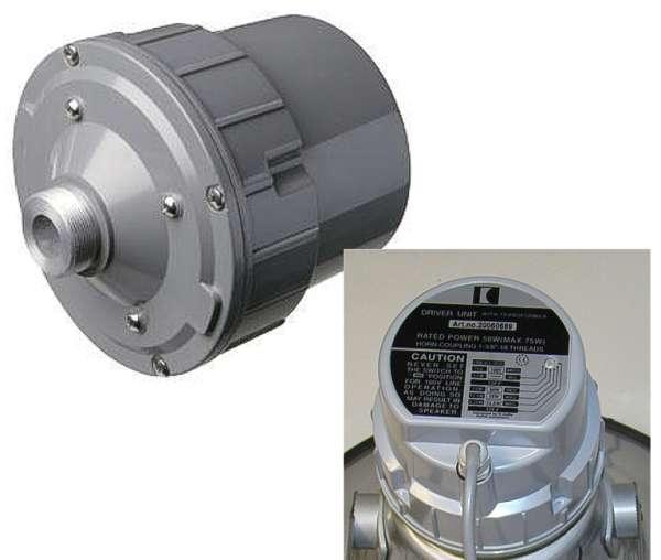 Druckkammerlautsprecher 100V Trichter Treiber 75W IP66