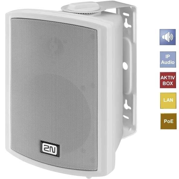 IP LAN Audio Box NET-SPEAKER Aktivbox Weiss