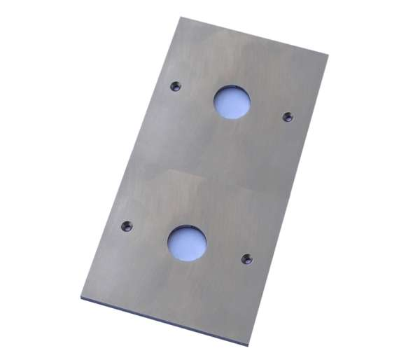 Klingeltaster Blende 4-HB V2A 82x153mm mit 4-Bohrungen